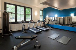 Fitness Center at Central High Stephenson Mills Apartments in South Bend Indiana