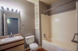 Apartment Bathroom at Central High Stephenson Mills Apartments in South Bend Indiana