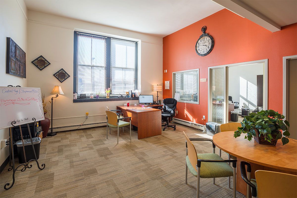 Rental Office at Central High Stephenson Mills Apartments in South Bend Indiana