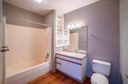 Apartment Bathroom at Central High Stephenson Mills Apartments